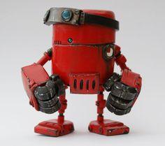 robot sculptur, robots, 3d character, red robot, rusti robot, art, robot minion, tribe rusti, red tribe