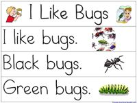 Pocket Chart Printables for the book, I Like Bugs