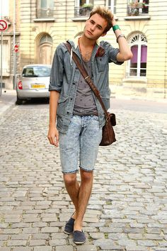 How to wear: denim shorts