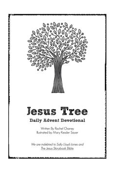 Jesus Tree - Daily advent devotional for December. Each day you read a devotional, sign a hymn, then color & hang an ornament. (download devotions & drawings for free)