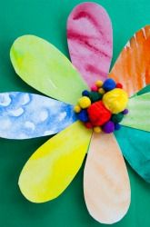 Activities: Watercolor Flower--so fun, pretty, and springy.  This craft says it's for kids, but it looks very therapeutic to me. Must try....