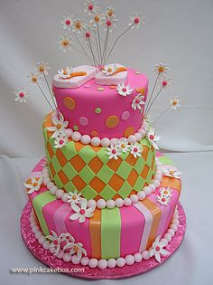 Whimsical Topsy Turvy Cake...I would like someone to get me this cake...anyone?