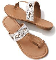 Riviera Goddess Toe-Loop Sandal: Sale $19.99