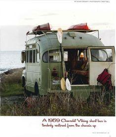Vintage bus-RV conversion...in love.