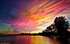 The sky resembles an oil-color palette, and the vivid shades of pinks, lilac and orange are captured in all of their splendor. Photographer-uses-time-lapse-technology-capture-dazzling-sunsets-colorful-clouds.