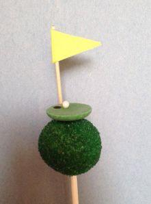 Golf cake pops