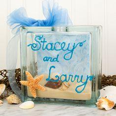 Nicole™ Crafts Sand and Shell Glass Block #glassblock #craft