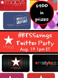 I will buy _____ if I win a $150 Macy's gift card [fill in the blank]  Don't miss the #BTSSavings Twitter Party Tues., Aug. 19 1pm ET - 4 people will win a Macy's Gift Card!!! Be sure to RSVP!!!  http://www.savings.com/info/social/macys-btssavings-twitter-party #ad