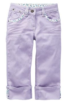 Mini Boden Cropped 'Turn Up' Jeans - love the bias details around the pockets