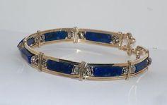 Lapis Lazuli Bracelet #HAF #HAFshop #Handmade #Artist $44.99