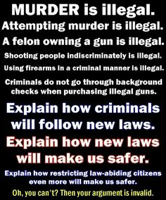More gun laws and ta