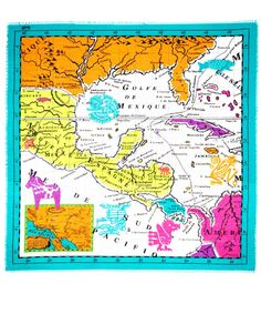 map of mexico oversized square scarf