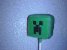minecraft - creeper cake-pop