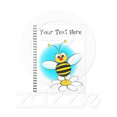 Notebook with a bee from Zazzle.com