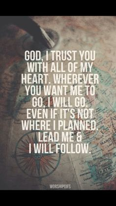 By the grace of God, I will follow!