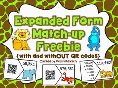 {FREE} Expanded Form Match-up (Plus 4 additional place value freebies!)