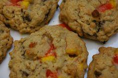 choco chip oatmeal candy corn cookies