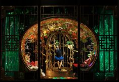 Harvey Nichols Xmas 2012 Rich exotic Oriental window display with an emphasis on gilded cages.