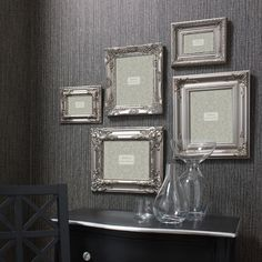 ACHICA | Baroque Set of 5 Frames, Silver    Want!