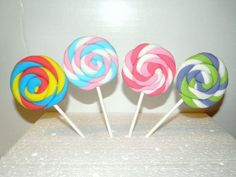 Fondant Lollipops Any Colors by CupcakesCentral on Etsy, $10.00