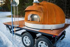 Corten dome / mobile wood fired oven / Le Panyol / Foodie