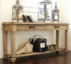 Hamilton Reclaimed Wood Console Table #potterybarn