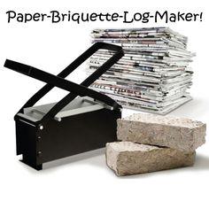 Paper briquette-log maker