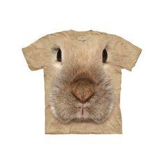 Bunny lifelike creature face tee for kids $14