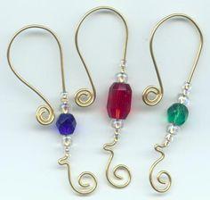 Beaded Ornament Hook Hangers