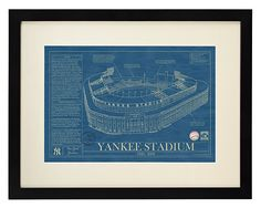 Look what I found at UncommonGoods: ballpark blueprints... for $185 #uncommongoods