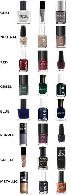 Fall Nail Polish Colors #nails #nailpolish #fall