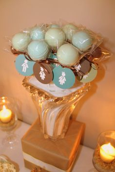 #Genderreveal cake pops