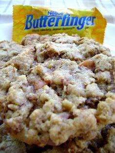 crispy butterfinger cookies