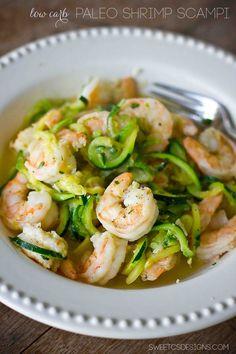 paleo shrimp scampi- this is so delicious and low carb!  / #lowcarb ♥ shared via https://facebook.com/lowcarbzen