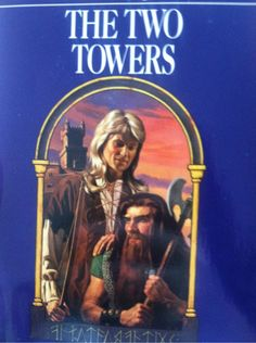 """""""okay so my dad finally found his copy of the two towers and oh mY GOD IT LOOKS LIKE A ROMANCE NOVEL I CAN'T STOP LAUGHINFG WHENEVER I SEE IT LOOK AT LEGOLAS' MULLET CZKLANXNKSKAHX AND GIMLI'S JUST STARIUNG INTO THE DISTANCE"""""""