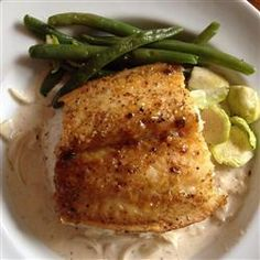 """Salmon with Brown Sugar Glaze 