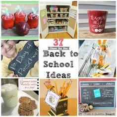 37 Back to School Ideas.  Cute!!  Lunch box jokes, after school snacks, teacher gifts