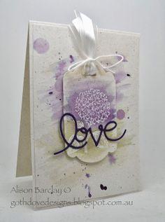 Gothdove Designs - Alison Barclay #stampinup #stampinupaustralia #BestOfFlowers #thinlits #valentine #watercolour