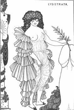 Aubrey Beardsley, Lysistrata, 1896. stuff, lysistrata