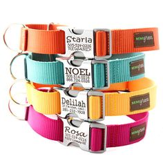 Personalized Dog Collar. Perfect for the paracord collars!