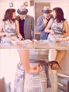 cooking engagement pictures. perfect
