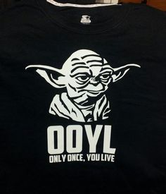 Funny and geeky twist! Yoda YOLO by VoodooGearApparel on Etsy