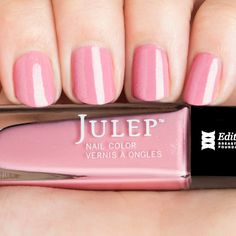 Julep Edith: Cherry blossom pink crème with holographic glitter