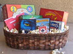 Family night gift basket- great teacher gift idea too!