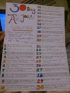 The 30 Day Art Journal http://pamperpusscat.blogspot.com/2012/09/the-30-day-art-journal.html