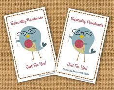 Kawaii crafty bird mini cards