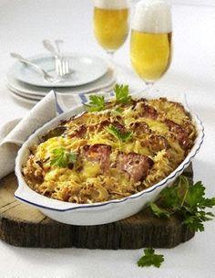 Bayerischer Fleischkäse-Auflauf Rezept