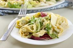 Tortellini Caesar salad - an easy way to make your favourite salad into a full meal! / amuse-your-bouche.com