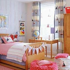 Sail Boat Curtains for Boys Room...sweet.