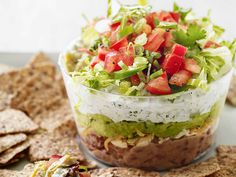 Slim Six-Layer Dip Recipe : Food Network Kitchen : Food Network - FoodNetwork.com